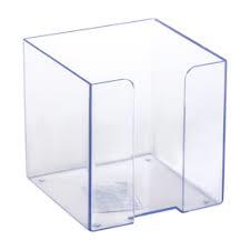 Пластбокс СТАММ прозрачный для бумажного блока 9х9х9 см