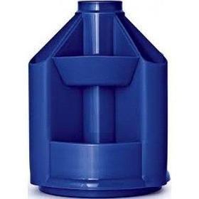 Подставка для канц. принадлежностей, MiniDesk, синий, пластик Стамм