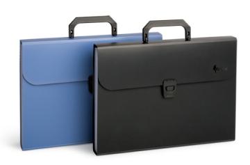 Портфель с 12 отделениями А4, синий, фото 2