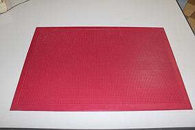 """Придверный коврик:  400*600 """"Игольчатый"""" Красный"""