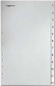 Разделитель пластиковый Classic А4 цифровой 1-12