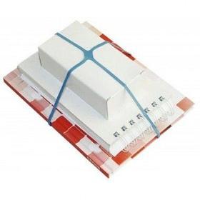 Резинки для упаковки документов, корреспондеции 5см, 100гр, цветные Q-Connect