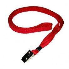 Ремешок для бейджа, 45см, c металлическим клипом, красный
