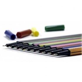 Ручка капиллярная, 0.4мм, 10шт., набор Senator Liner