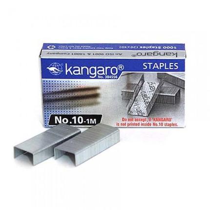 Скобы Kangaro д/степлера №10, 1-10л, 1000шт, оцинкованные, фото 2