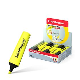 Текстмаркер, ErichKrause®,  Visioline V-12, цвет чернил желтый