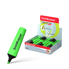 Текстмаркер, ErichKrause®,  Visioline V-12, цвет чернил зелёный