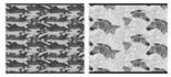 """Тетр 48л скр А5 кл 8653/5-EAC 5+0 (метал) """"Черно-белый паттерн (животные)"""""""