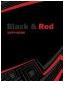 Тетрадь на 4 кольцах, твердый переплет А5 кл Black&Red