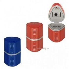 Точилка 3 отверстия, с контейнером, пластик Faber-Castell