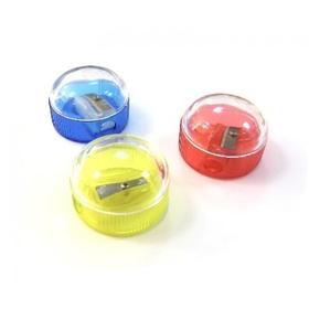 Точилка круглая, одинарная, с контейнером, пластиковая Epene