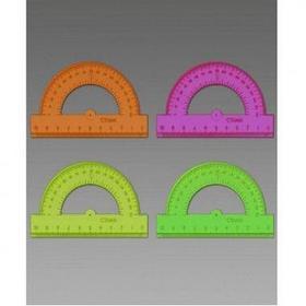 Транспортир 10см, прозрачный, ассорти Neon Стамм
