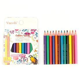 Цветные карандаши Vneeds 12цв.