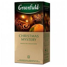 Чай Greenfield Christmas Mystery, черный, 25 пакетиков