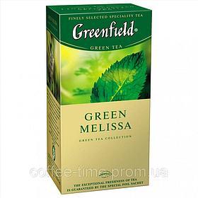 Чай Greenfield Green Melissa, зеленый, 25 пакетиков