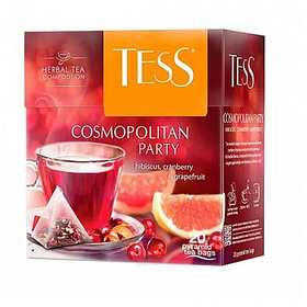 Чай Tess Cosmopolitan Party, травяной, 20 пирамидок