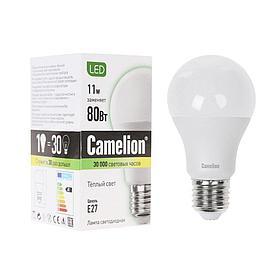 Эл. лампа светодиодная Camelion А60/3000К/E27/11Вт, Тёплый