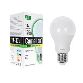 Эл. лампа светодиодная Camelion А60/3000К/E27/15Вт, Тёплый