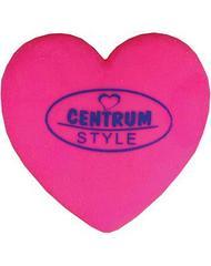 """Ластик из синтетического каучука """"Centrum Style"""", 90x60x8мм, серия """"Сердечко"""", розовый, в блистере"""