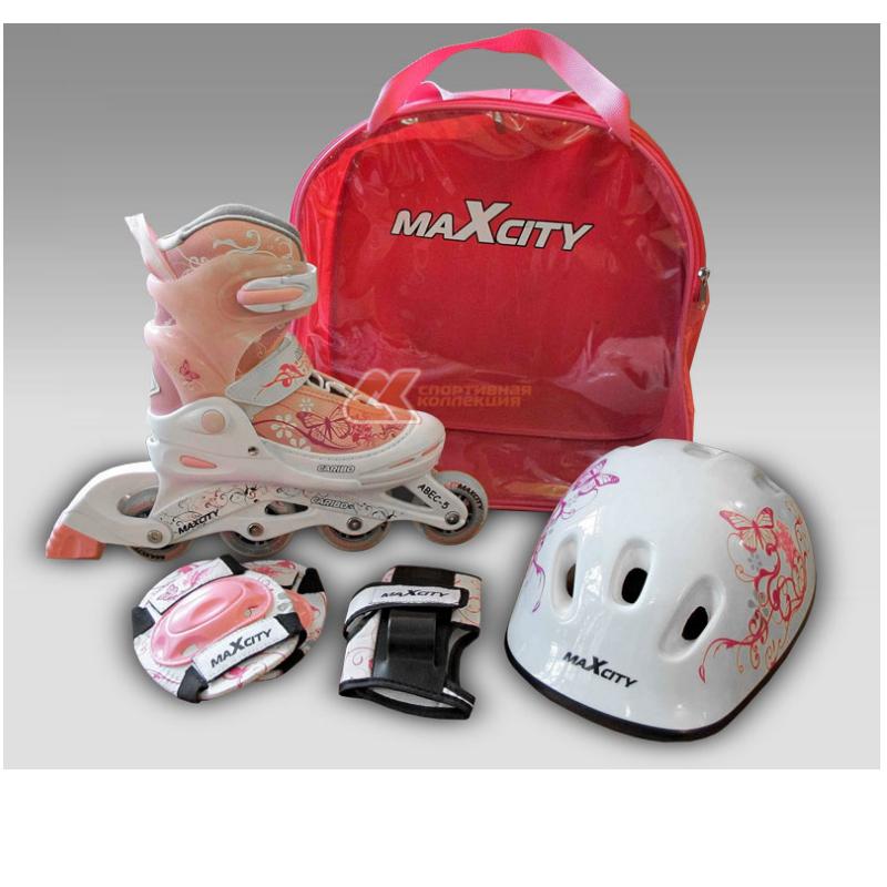 Роликовые коньки (шлем, наколенники)