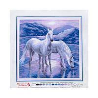 Канва с рисунком 'Матренин посад' 'На рассвете', 41*41 см