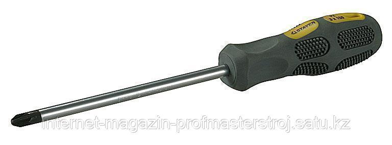 Отвертка PZ2 x 200 мм, MAX-GRIP Regular, STAYER