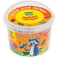 """Тесто для лепки 12цв.30гр.""""Енот в деревне"""" # ТЛ-12209 ведро"""