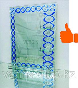 Зеркало настенное для ванной комнаты (зеркально синий)