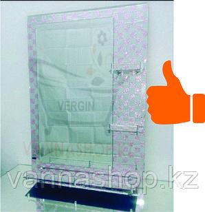 Зеркало настенное для ванной комнаты (шахматный розовый )
