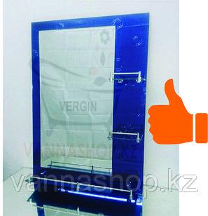 Зеркало настенное для ванной комнаты (темно- синий)