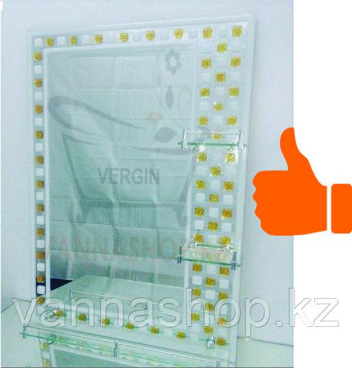 Зеркало настенное для ванной комнаты ( белый шахматный )