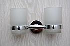Настенный стакан (двойной) для щеток и зубных паст, фото 2