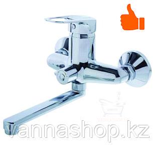 Однорычажный смеситель для ванны с коротким изливом (шаровый)