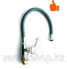 Однорычажный смеситель для кухни цветной (серый)