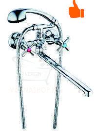 Однорычажный смеситель для ванны (двух винтовой или барашковый)
