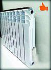 Радиатор отопления (Compozit) алюминиевый 10 секций 96/500, фото 4