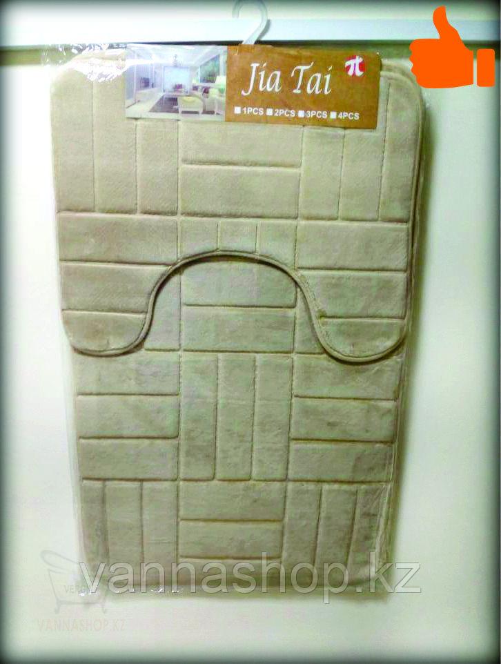 Коврик для ванной комнаты, размер 50х80см, 48х40см