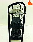 Этажерка для обуви металлическая 3 полки (черная), фото 5