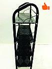 Этажерка для обуви металлическая 4 полки (черная), фото 3