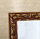 Напольное зеркало коричневого цвета в гипсовой рамке, фото 4