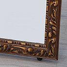 Напольное зеркало коричневого цвета в гипсовой рамке, фото 5