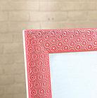 Напольное зеркало розового цвета в гипсовой рамке, фото 5