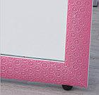 Напольное зеркало розового цвета в гипсовой рамке, фото 6