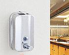 Дозатор (диспенсер) для жидкого мыла 1000 мл хром, фото 6