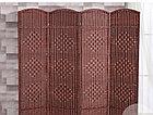 Ширма сплошная (4-х секционная) темно-коричневого цвета, фото 2