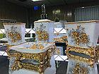 Фарфоровый набор для ванной (золотисто-белый), фото 3