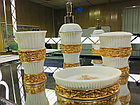 Фарфоровый набор для ванной (золотисто-белый), фото 4