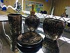 Фарфоровый набор для ванной (темно-коричневый), фото 4