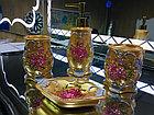 Фарфоровый набор для ванной (золотистый), фото 2