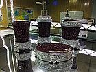 Фарфоровый набор для ванной (бордовый), фото 2